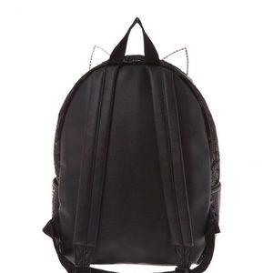 b8b34afbfd8a02 Bags | Fuzzy Sequin Cat Backpack Black | Poshmark